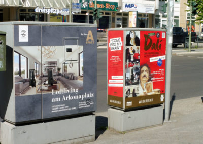 Stromkastenwerbung dali in Berlin