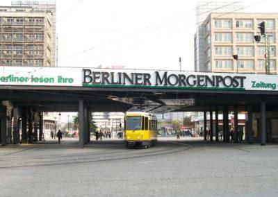 Brückenbanner von der Berliner Morgenpost