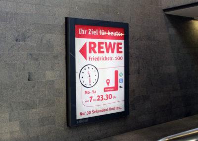 Plakatwerbung Rewe
