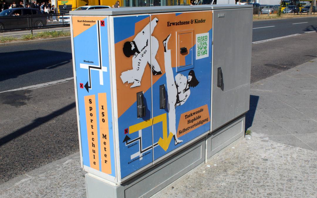 Stromkastenwerbung Taekwondo Akademie Pyo