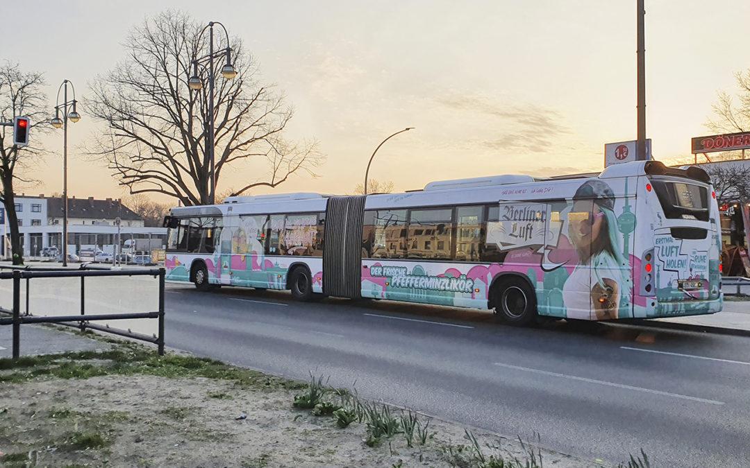 Buswerbung mit Linienbindung  vs. Konzentration auf ein Depot
