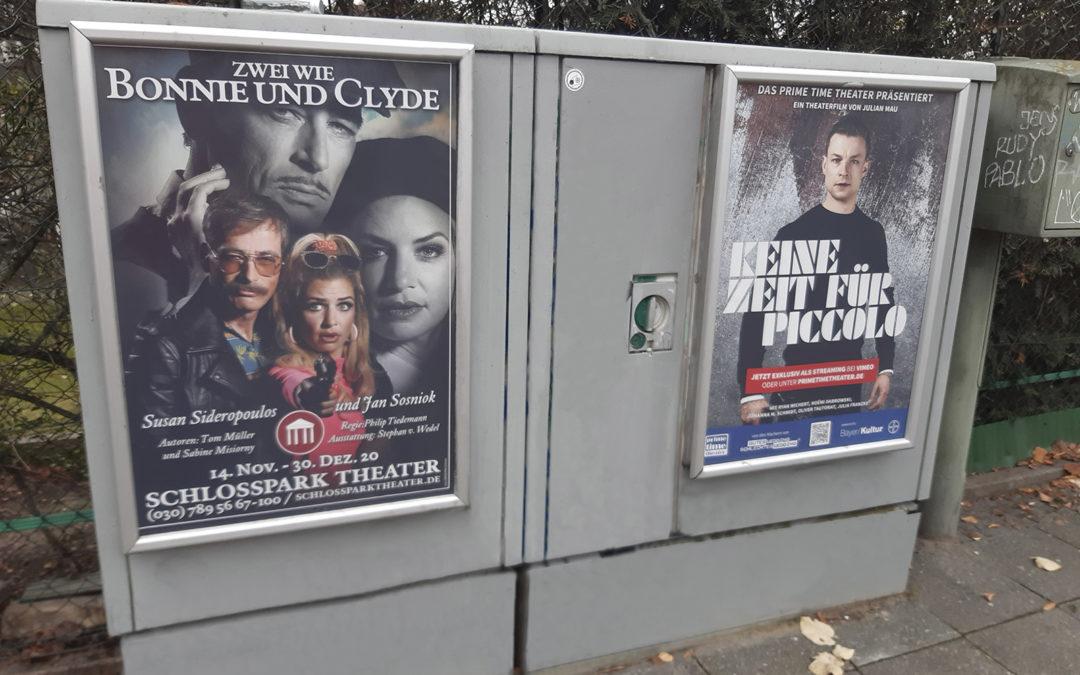 Plakat Kampagne auf Stromkästen